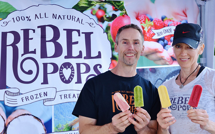 Rebel Pops makes 100% all natural gourmet ice-pops using the finest local organic and wild ingredients. Photo credit: Kathy Mak