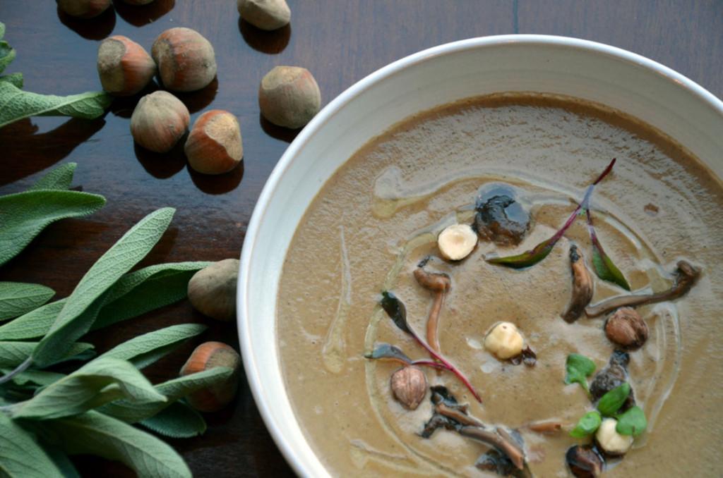 Recipe: Foraged Mushroom and Aggasiz Hazelnut Soup
