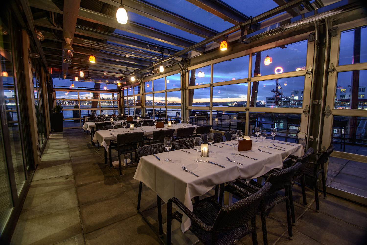 Pier 7 restaurant bar westcoast food for Best private dining rooms vancouver