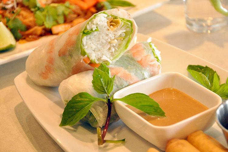 Salad rolls. Image by Brianna Fee.