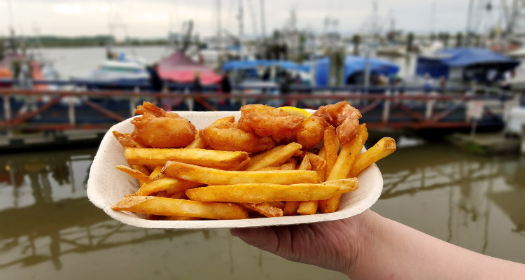 Sockeye City Grill's Take-Out Prawns n' Chips | Image by Daryl Hayward