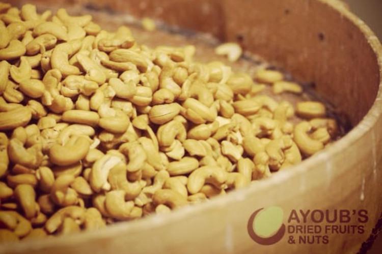Ayoub's Cashews | image courtesy of Ayoub's Dried Fruit and Nuts