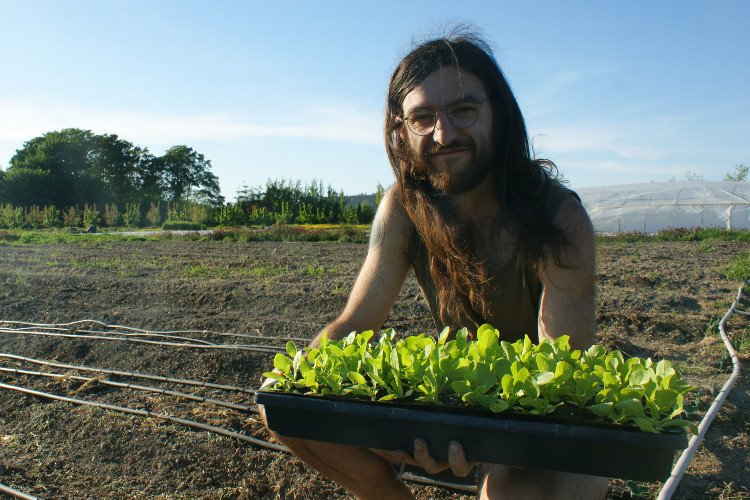 Brendan Lench, recent graduate of the Richmond Farm School
