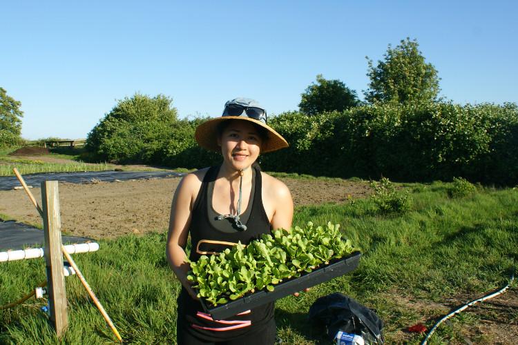 Caroline Chiu, recent graduate of the Richmond Farm School