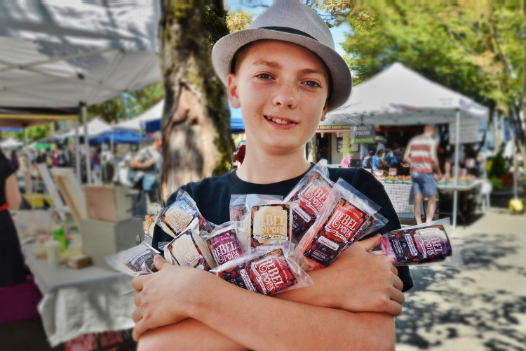 Jonah Daniels, Owner and kidpreneur of Rebel Pops