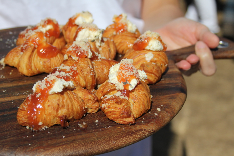 And, it looks good too. Terra Bread offered a flaky butter croissant with fromage frais from The Farm House Natural Cheeses and nectarine preserve made from Parsons Farm fruits.