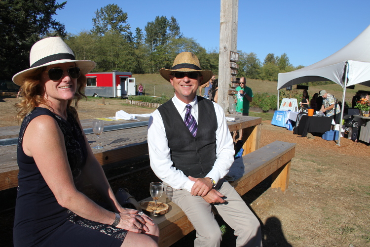"Jim Carmen (right) was at the very first Feast of Fields and hasn't missed one since: ""I grew up on a farm so I really enjoying being out here. That, and I just love good food."""