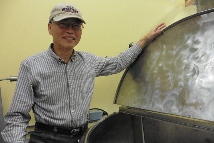 Masa Shiroki, Artisan Sake Maker, at his facility on Granville Island | image by Joanne Sasvari