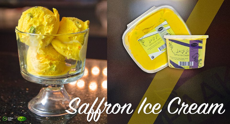Saffron ice cream from Paak Foods at Urban Gate