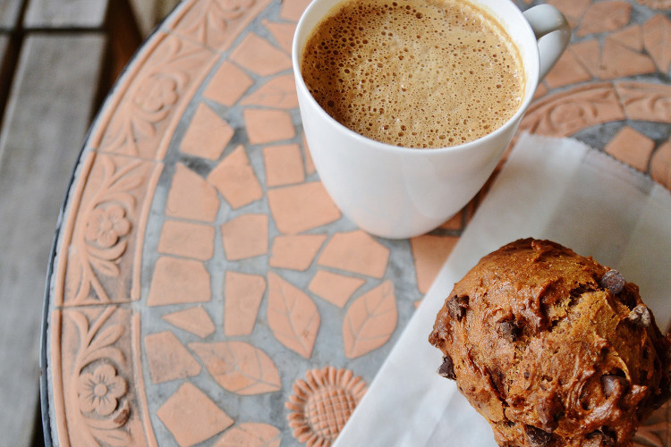 Make time to hang out on the bakeshop's outdoor covered deck with an espresso drink and one of the many baked goodies.