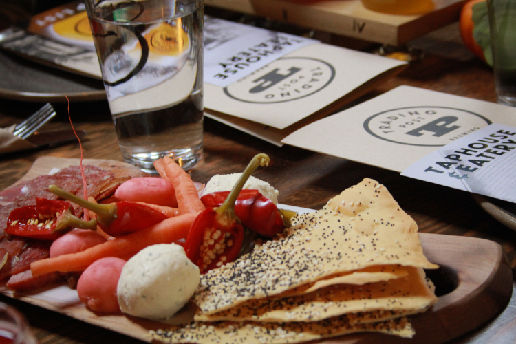 The same carrots above get a quick pickle and join the charcuterie board at Trading Post Taphouse & Eatery. This Fraser Valley restaurant sources A Rocha farm's produce.