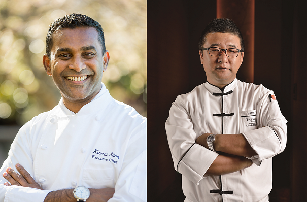 Chef Jiuxin Fan and Vancouver's Chef Kamal Silva