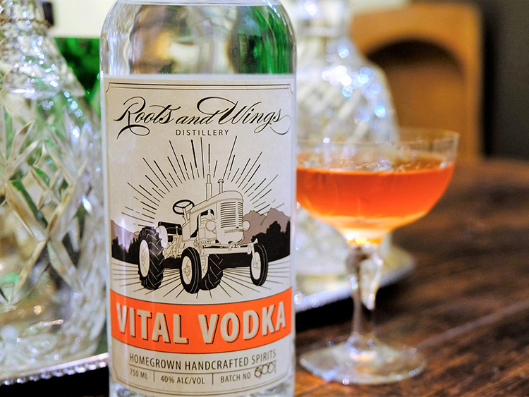 Vital Vodka - Roots and Wings Distillery - image by Kathy Mak