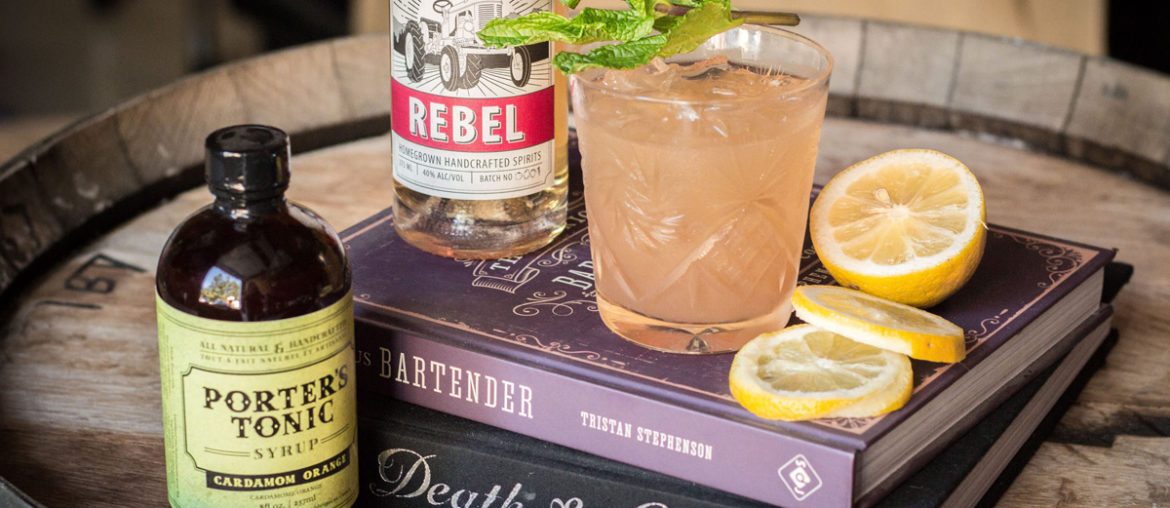 Cocktail Recipe - Cardamon Rebel Sour by Rebekah Crowley of Roots and Wings Distillery