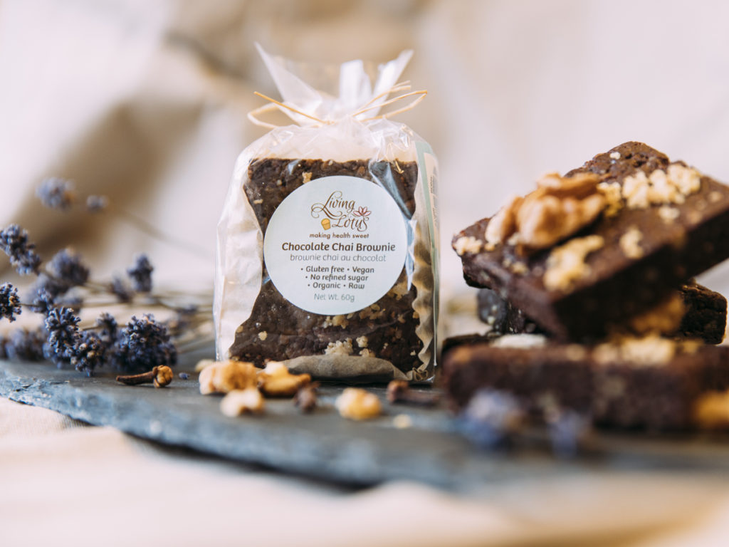 Raw vegan brownies and treats in Vancouver