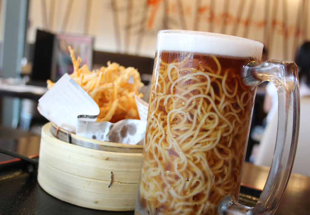 Beer Ramen at Yuu Japanese Tapas, Richmond, BC, Canada