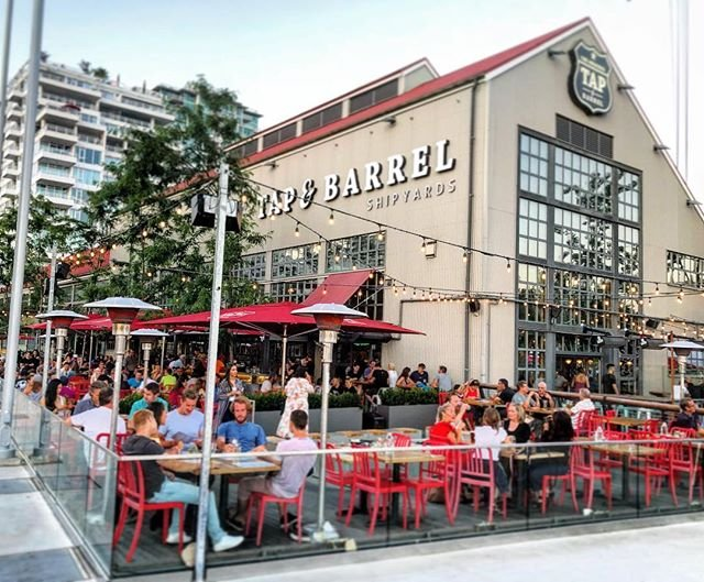 Happy Hour at Tap & Barrell's Patio in North Vancouver