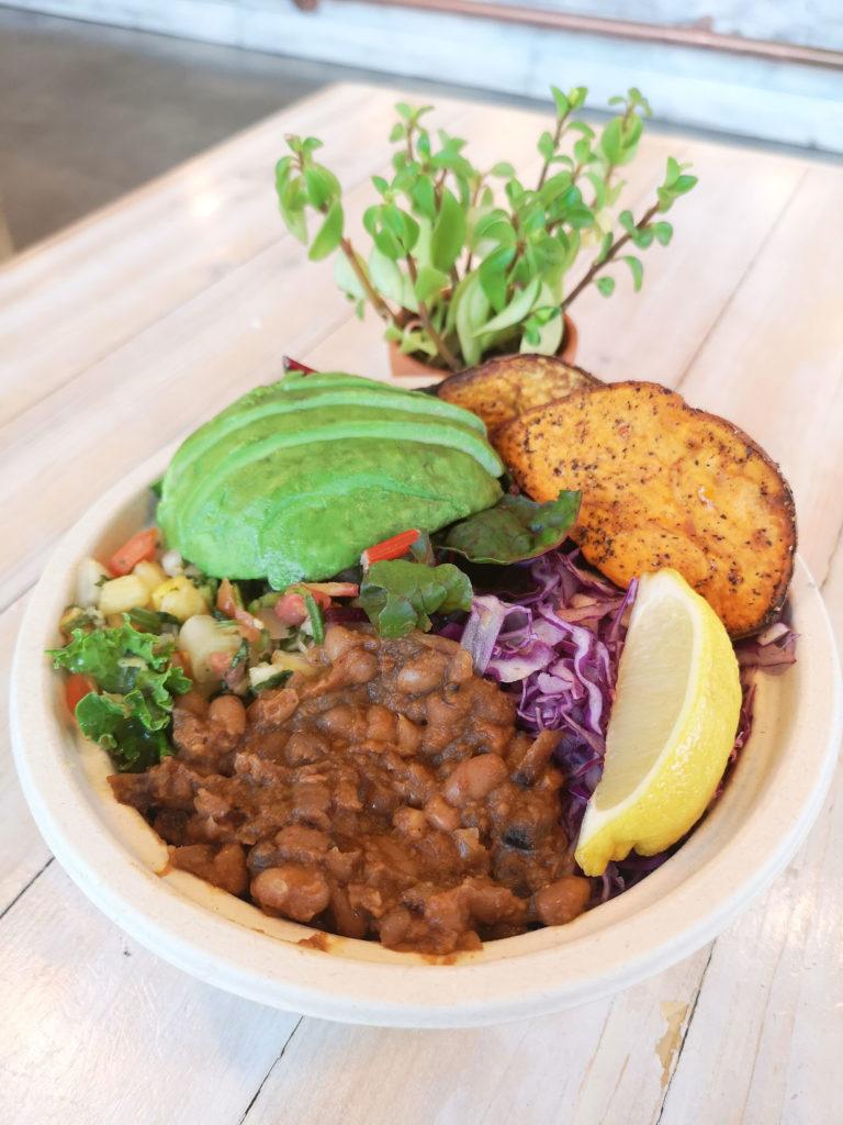 Vegetarian Bowl at Buddah-Full in Vanocuver