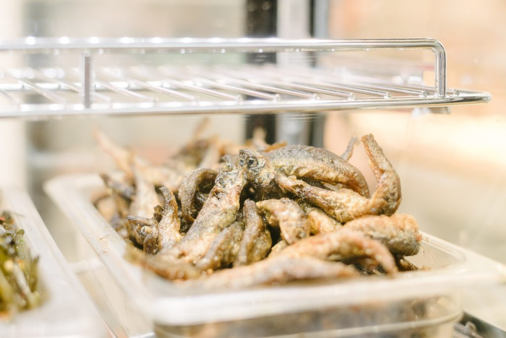 Deep fried fish at Richmond Public Market, Canada