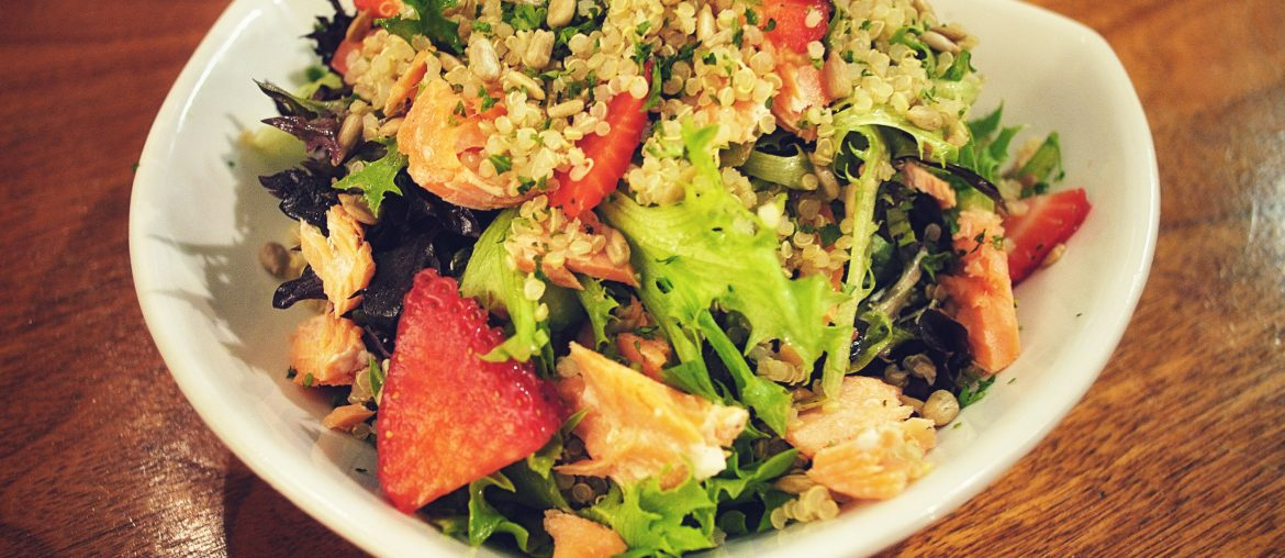 Burgoo-Salmon, Grains and Greens Salad