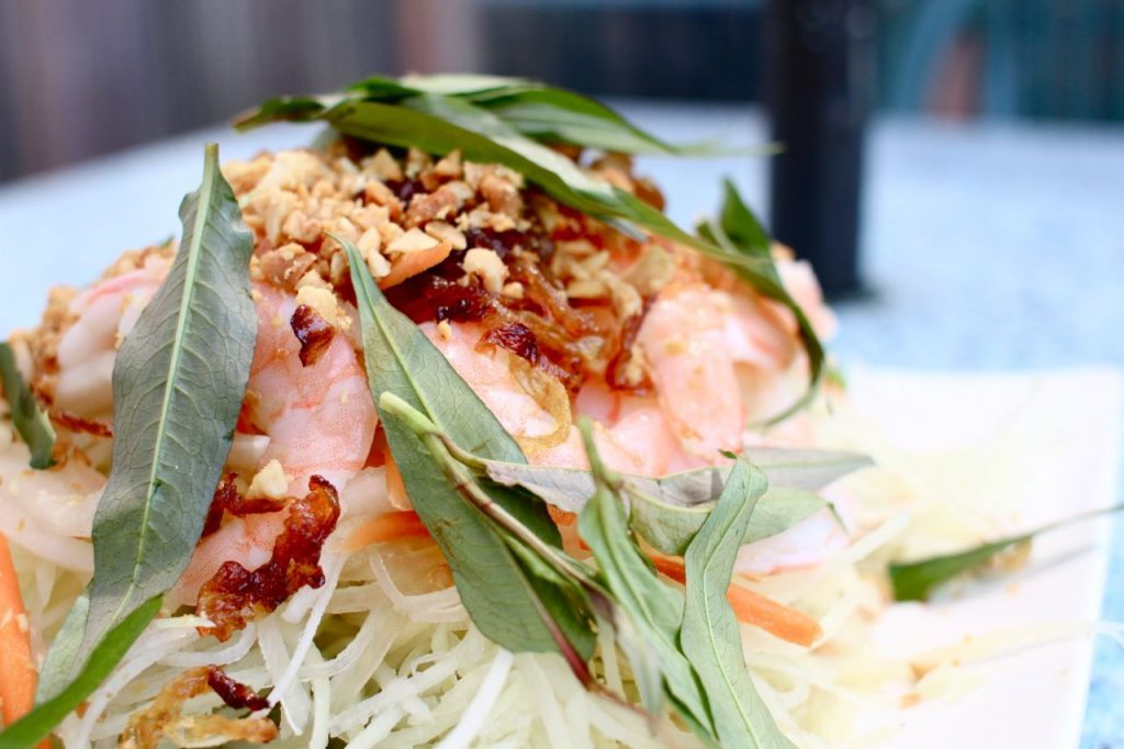 Papaya salad from Green Lemongrass. | Photo: Lindsay Anderson