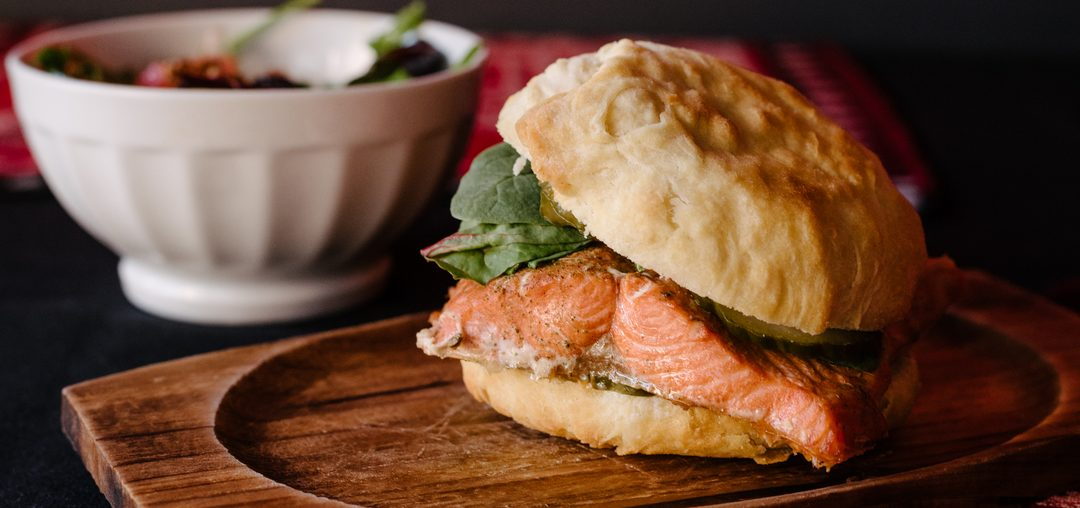 Salmon n Bannock Burger by Matt Law