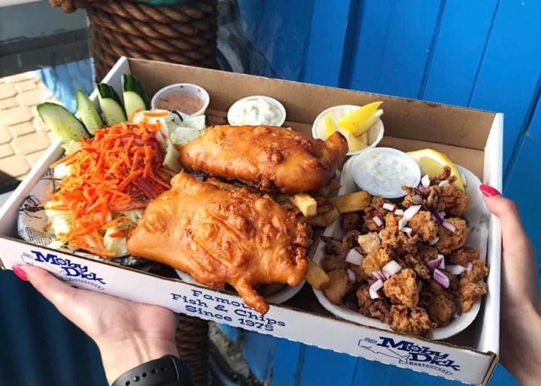 White Rock Fish and Chips at Moby Dick